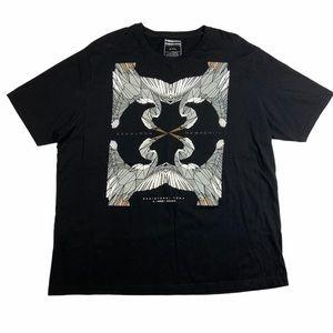 Sean John T-shirt Black Graphic Bird Black 2XL New